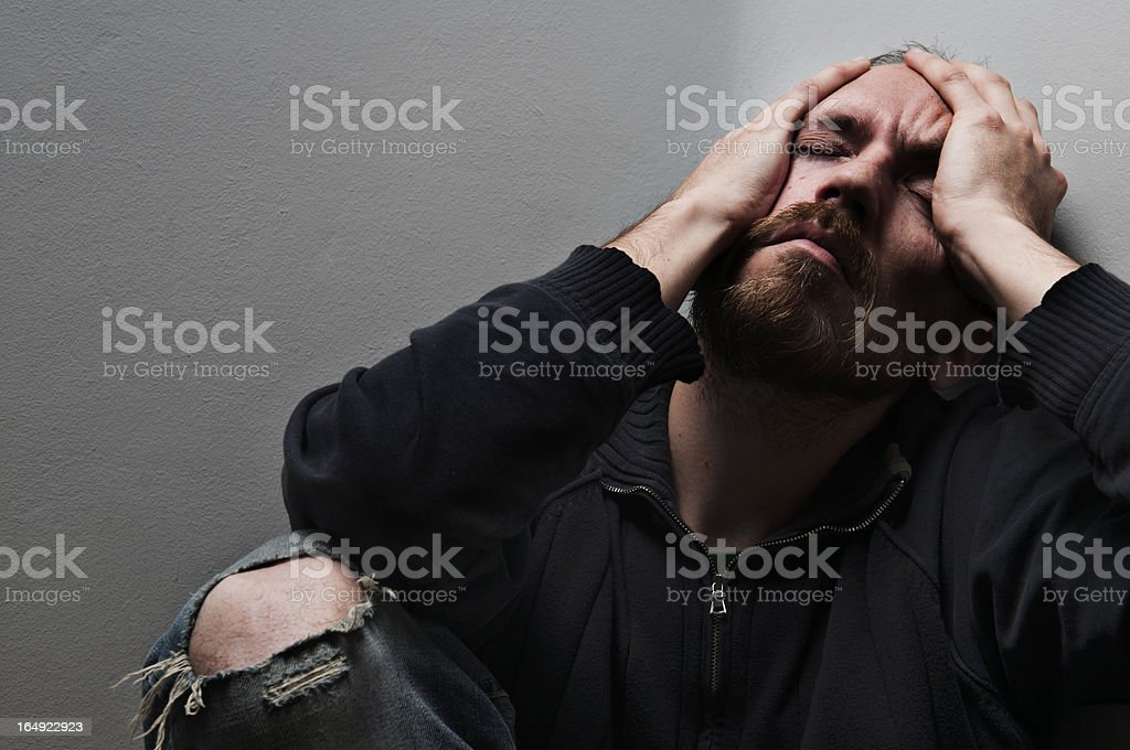 Frustrated man portrait royalty-free stock photo
