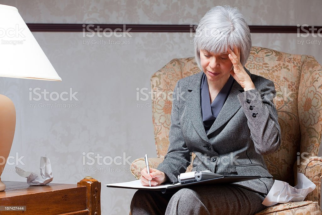 Frustrated Mature Woman royalty-free stock photo