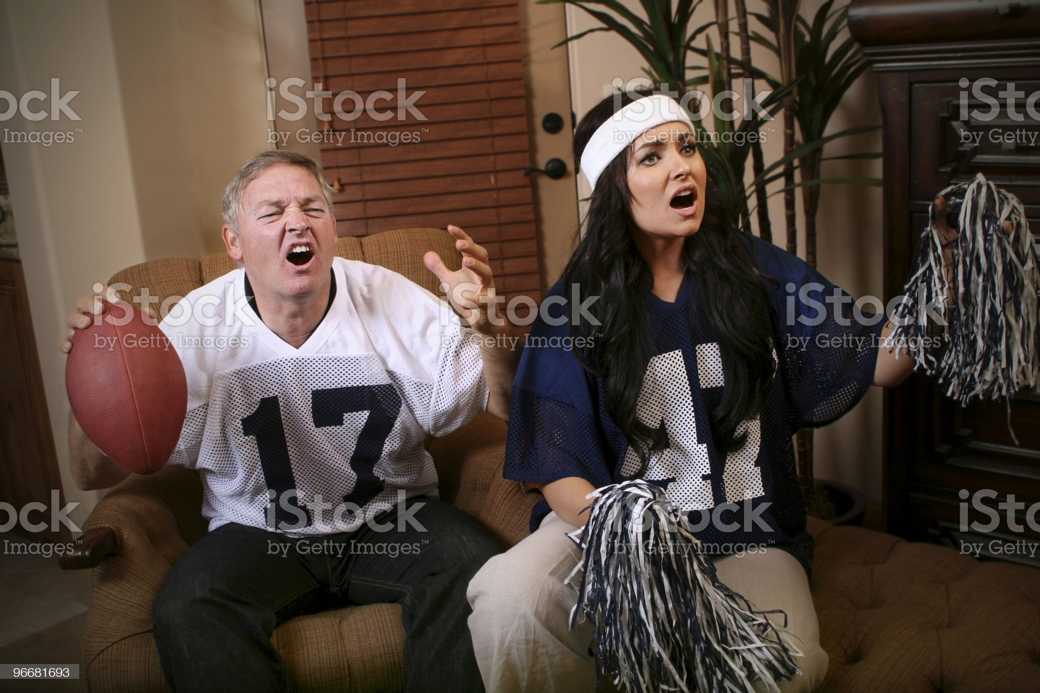 Frustrated Sports Fans royalty-free stock photo
