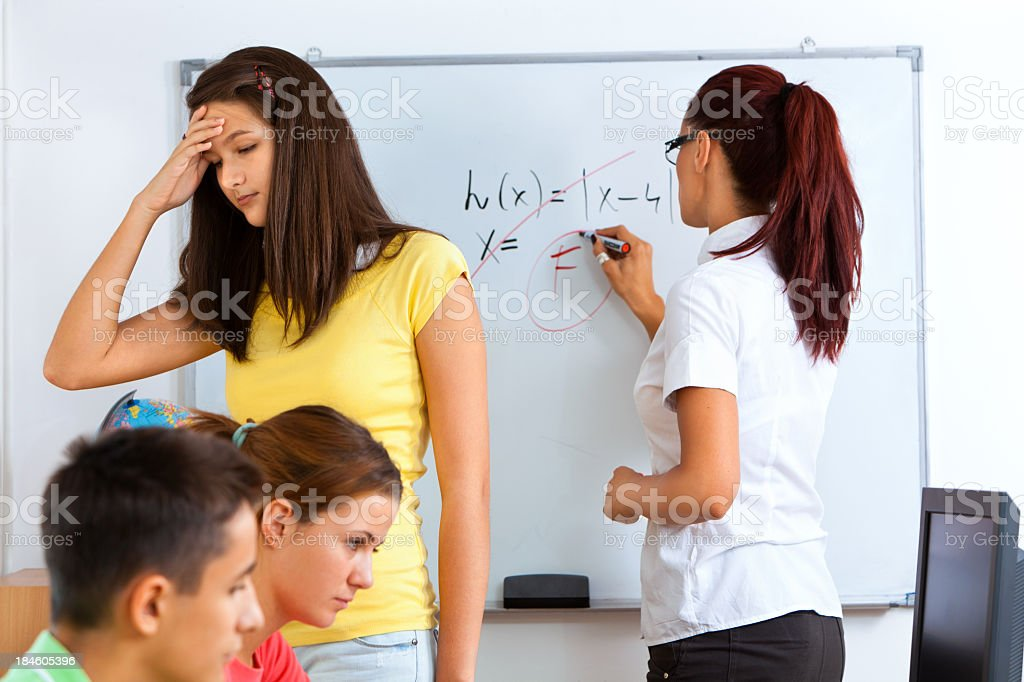 Frustrated student royalty-free stock photo