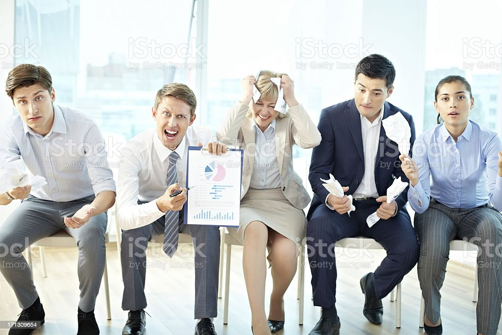 Frustrated team royalty-free stock photo