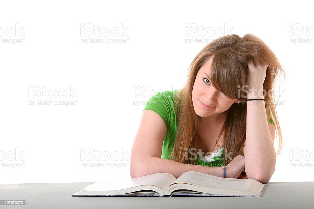frustrated teen student royalty-free stock photo