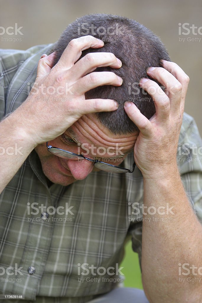 Frustrated White Male two stock photo