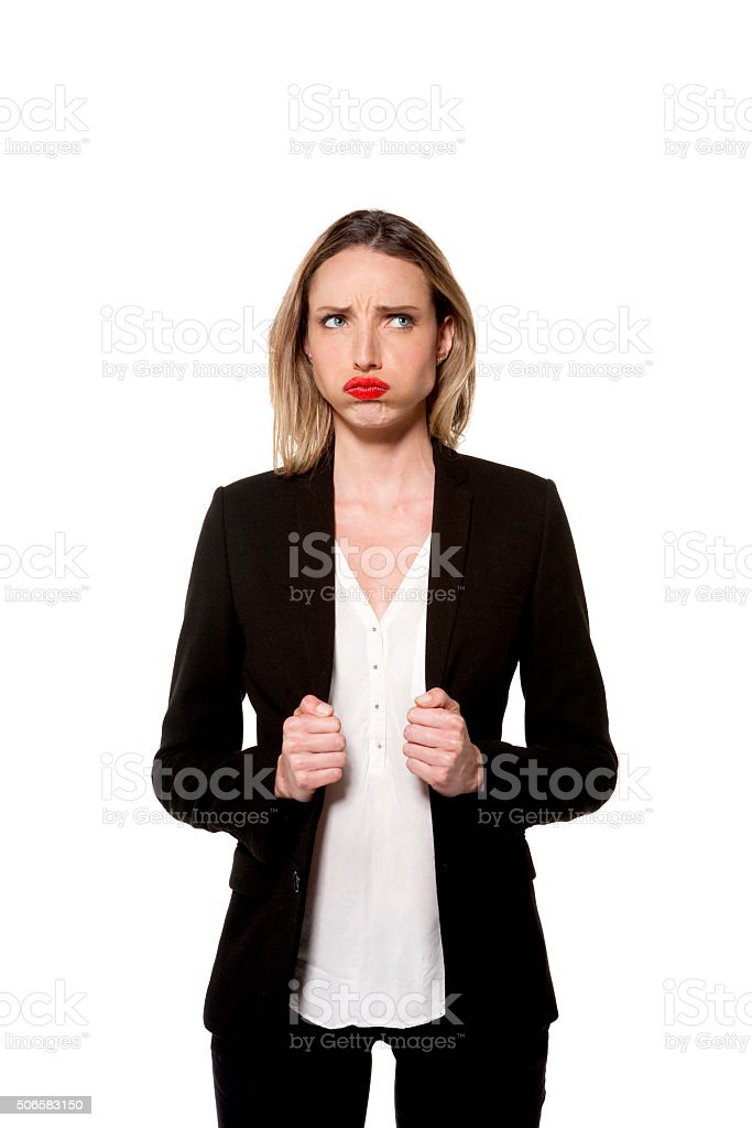 Frustrated Woman - isolated stock photo
