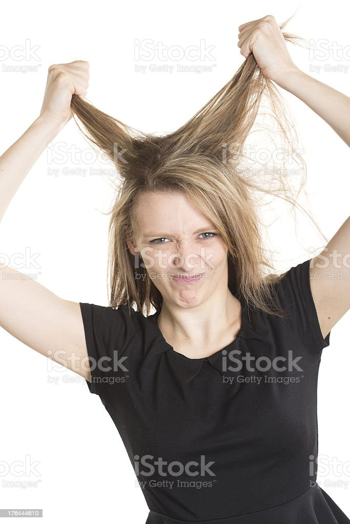 Frustrated Woman royalty-free stock photo