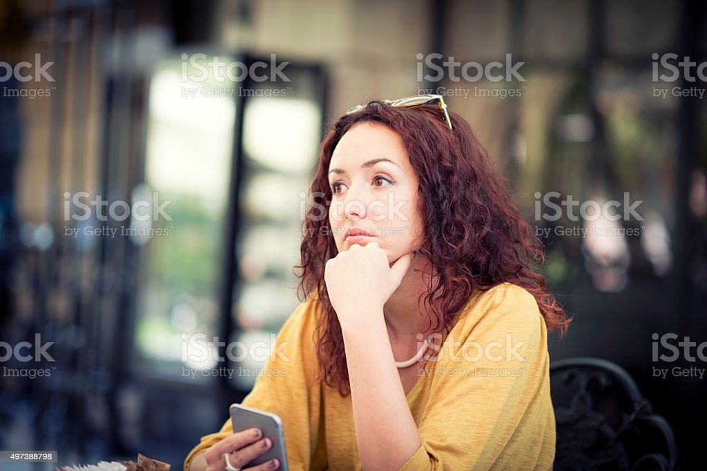 Frustrated Woman Suffering From Post Natal Depression stock photo