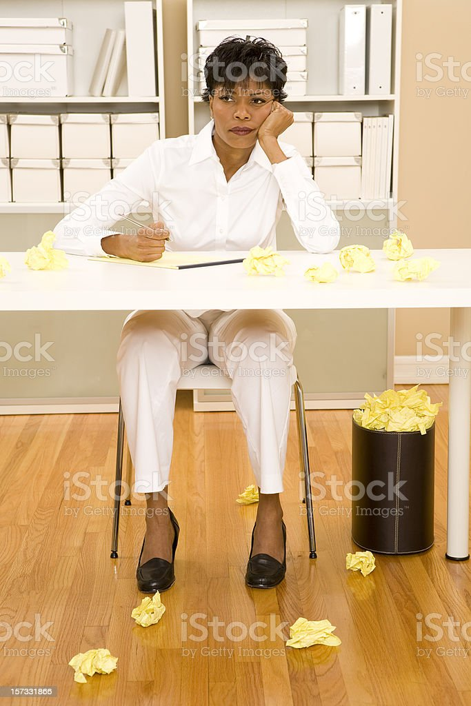 Frustrated Worker royalty-free stock photo