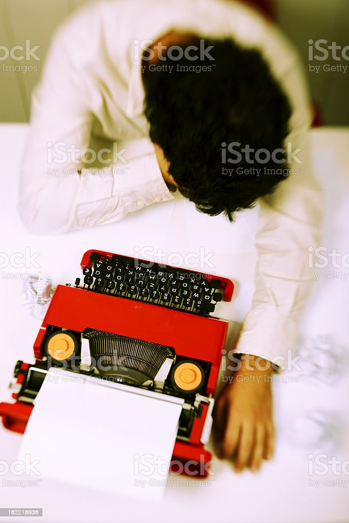 Frustrated writer royalty-free stock photo