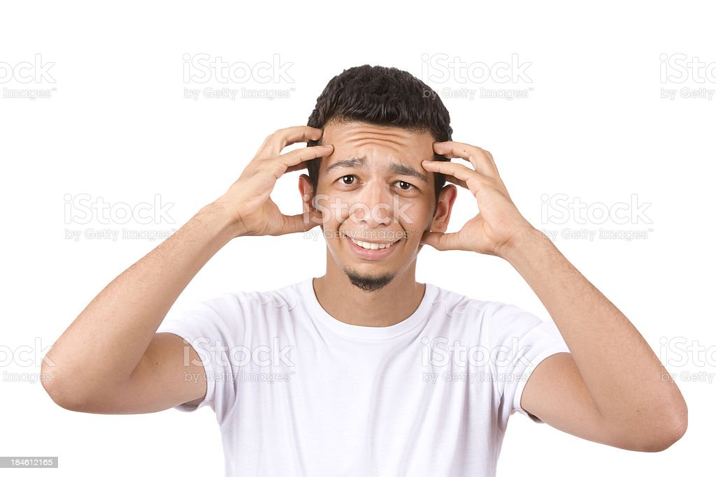Frustrated young adult portrait royalty-free stock photo