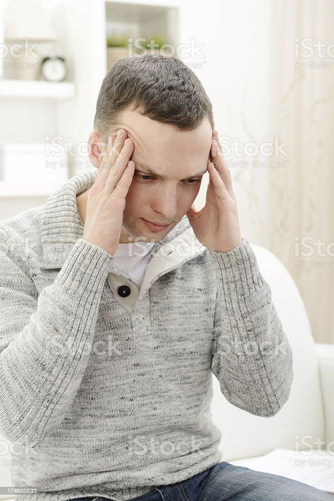 frustrated young man royalty-free stock photo