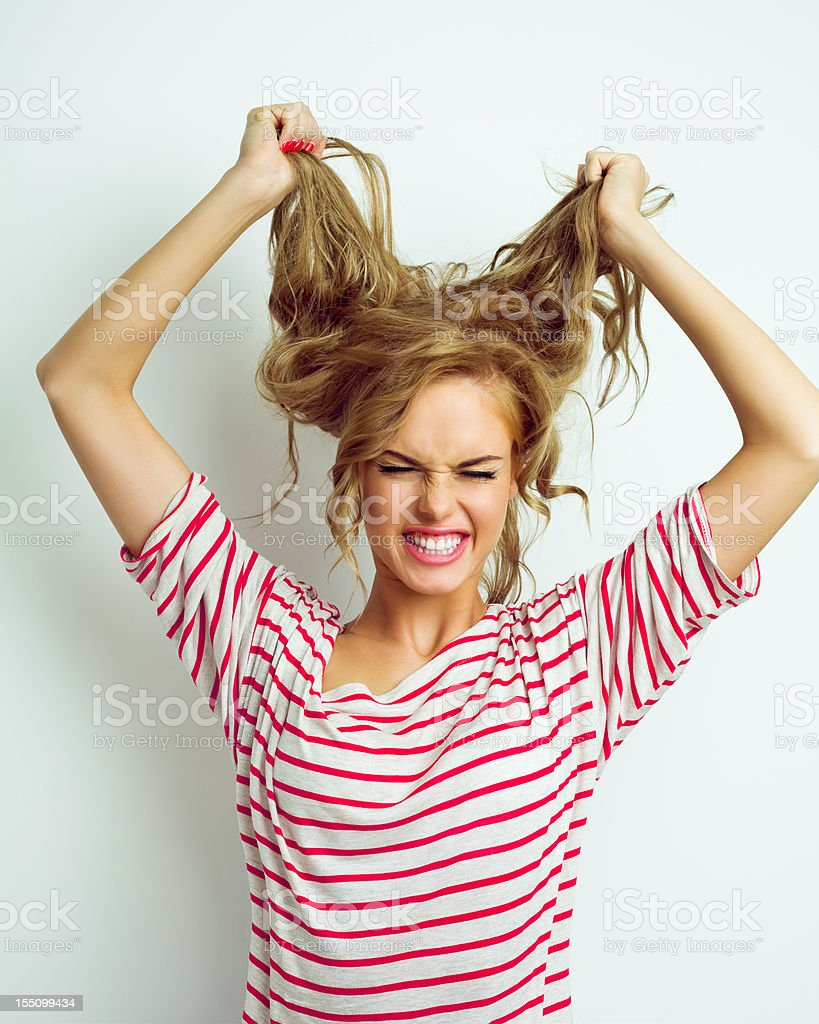 Frustrated young woman stock photo
