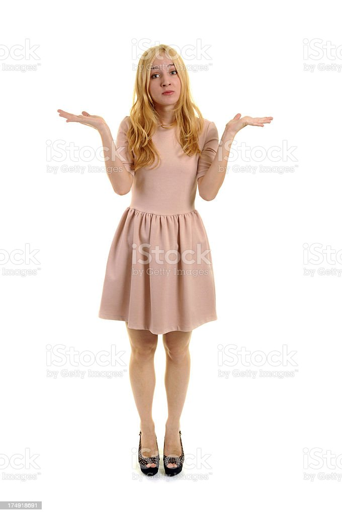Frustrated young woman royalty-free stock photo