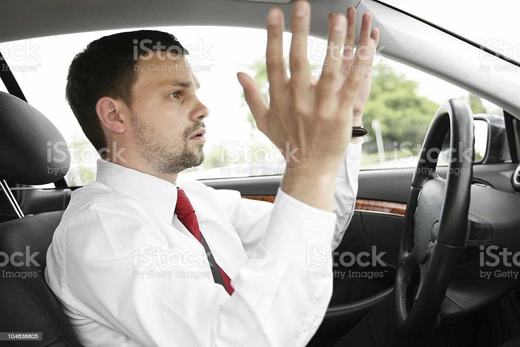 frustrating traffic royalty-free stock photo