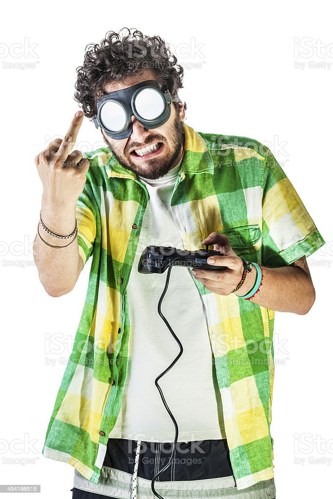 Frustrating video game royalty-free stock photo