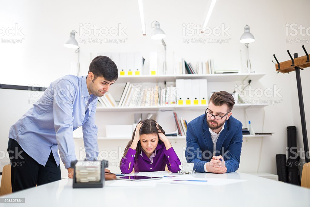 Frustration at work stock photo