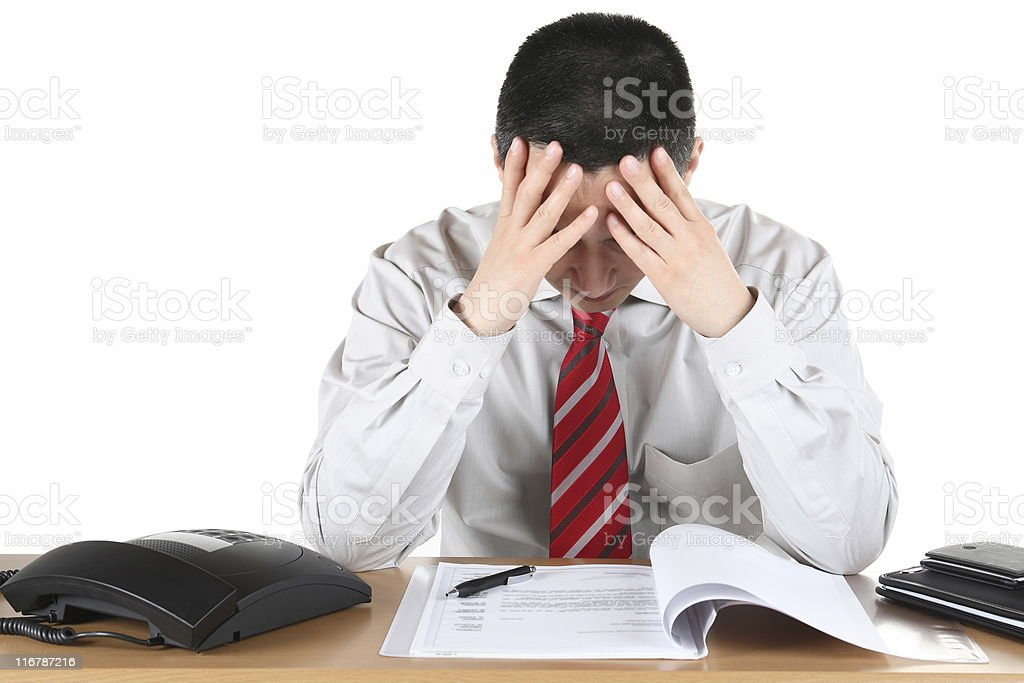 Frustration Business royalty-free stock photo