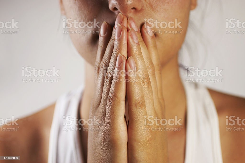 Frustration gesture stock photo
