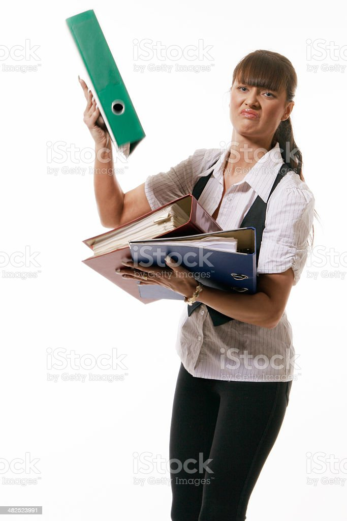 Frustration in work stock photo