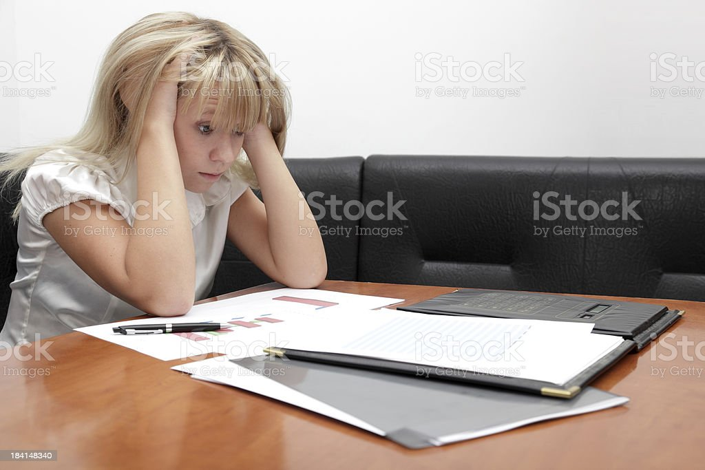 Frustration on the working place royalty-free stock photo