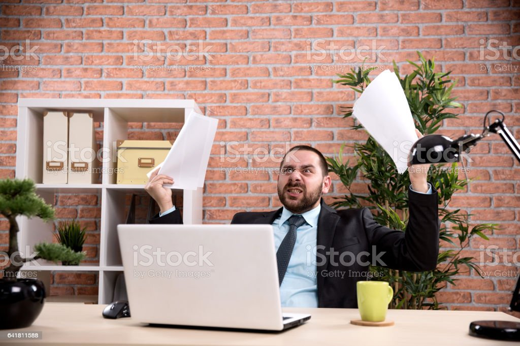 Frustration stock photo