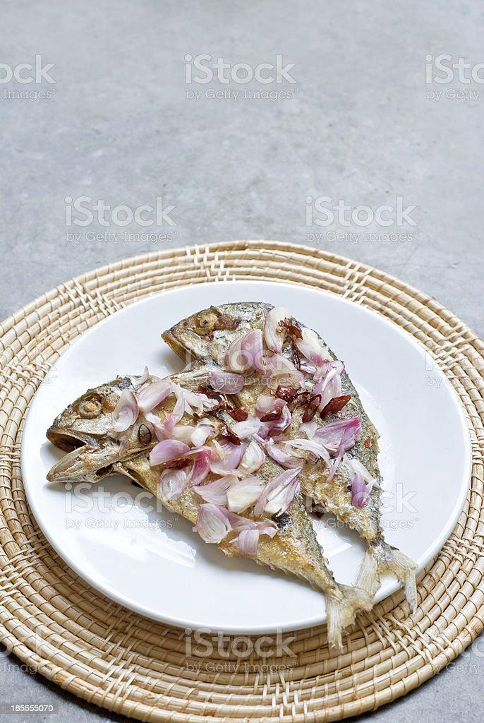 fry mackerel fish royalty-free stock photo