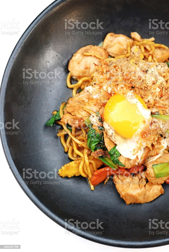 Fry Noodle stock photo