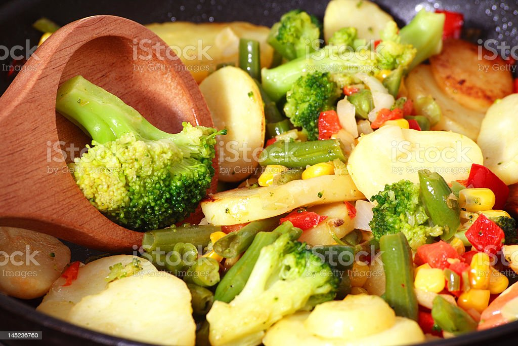 Fry vegetables royalty-free stock photo