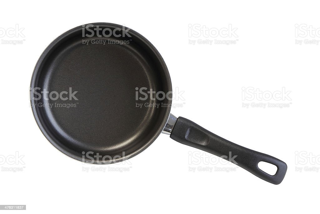 Frying pan isolated on white background royalty-free stock photo