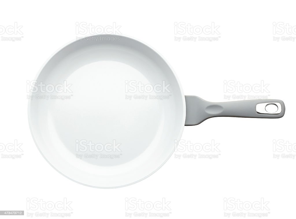 Frying pan isolated on white background without shadow stock photo