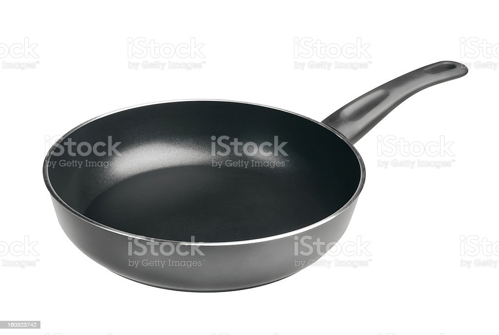 frying pan isolated on white royalty-free stock photo