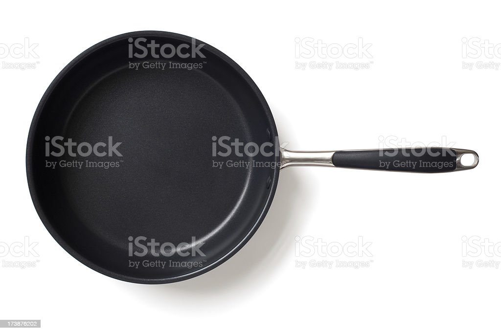 Frying pan isolated on white stock photo