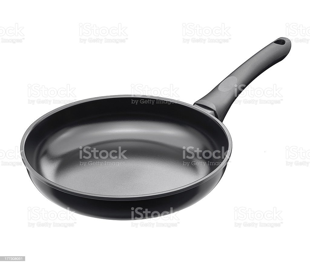 Frying pan isolated royalty-free stock photo