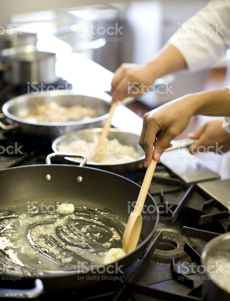 Frying Pans stock photo