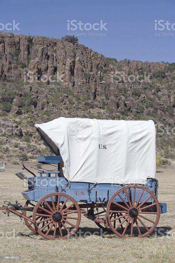 Ft Davis Wagon stock photo