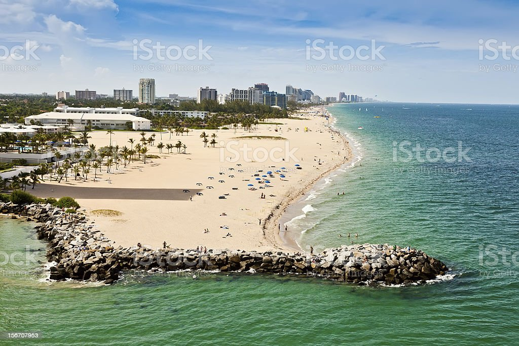Ft. Lauderdale Beach royalty-free stock photo