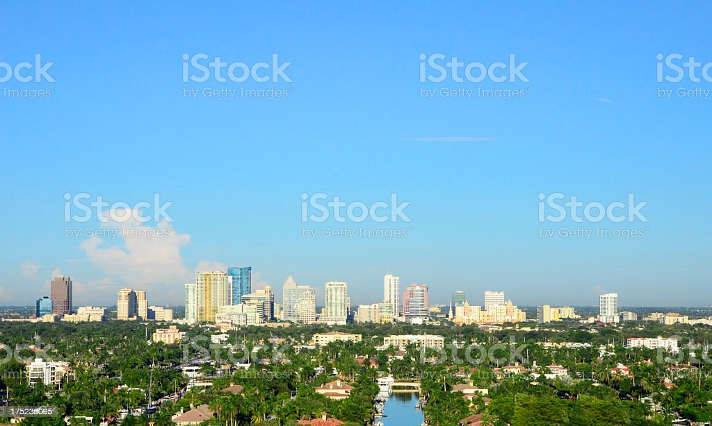 Ft. Lauderdale - Florida Skyline stock photo