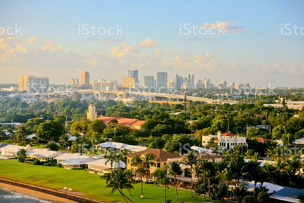 Ft. Lauderdale, Florida, USA, Skyline stock photo