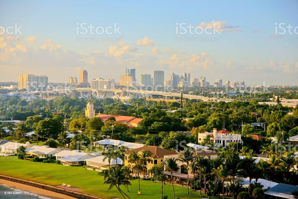 Ft. Lauderdale, Florida, USA, Skyline stock photo