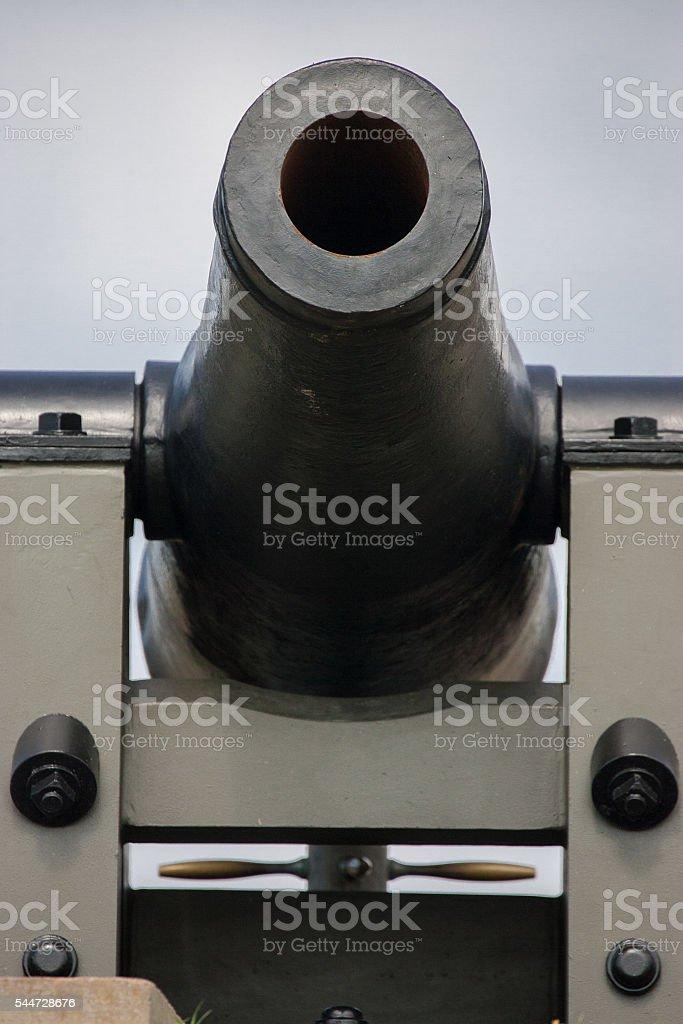 Ft Macon 32 Pound Cannon stock photo