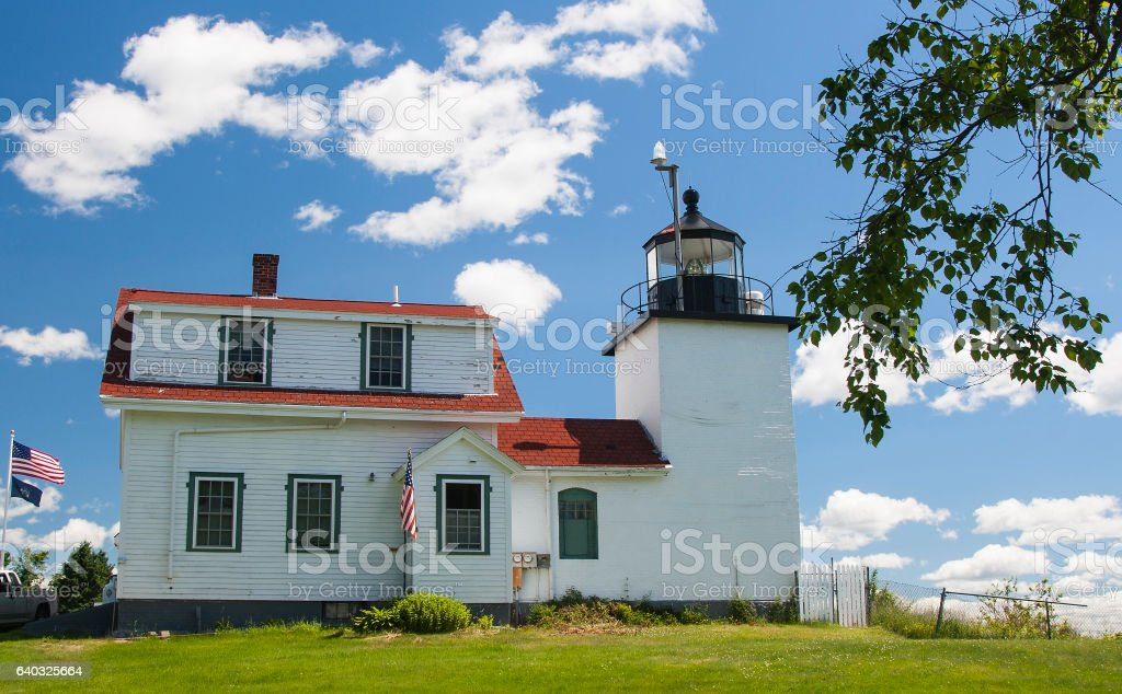 Ft Point Lighthouse stock photo