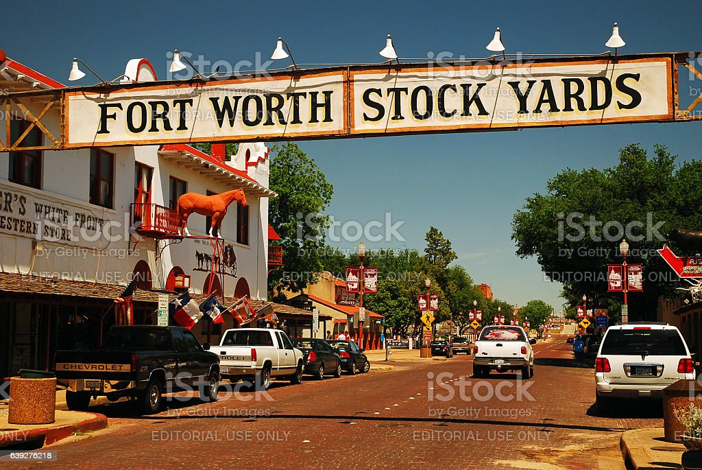 Ft Worth Stockyards stock photo