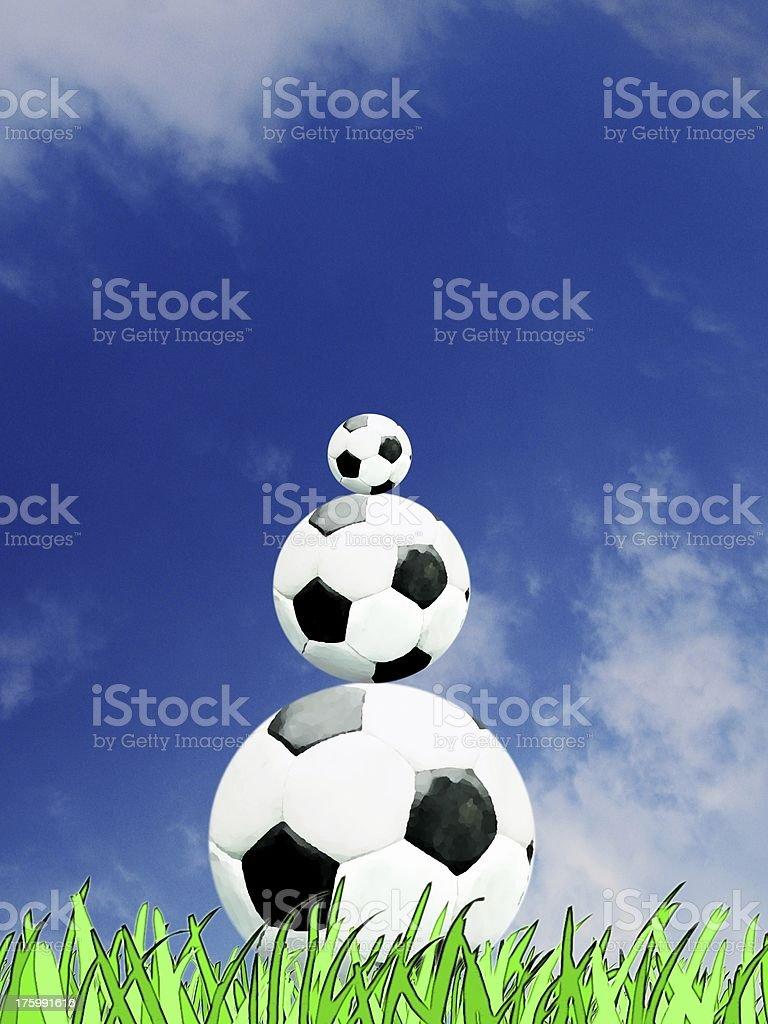 Fußball Pyramide stock photo