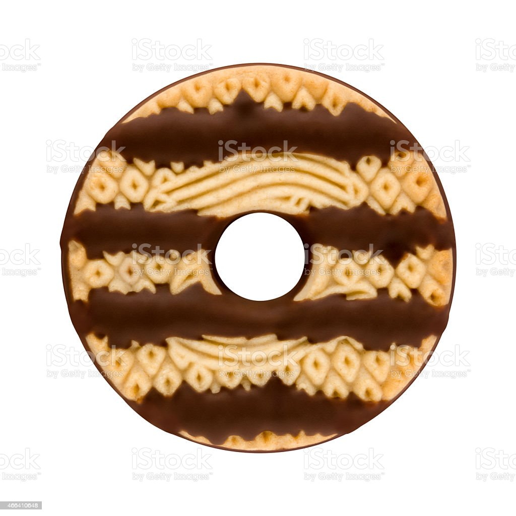 Fudge Striped Cookie  isolated stock photo