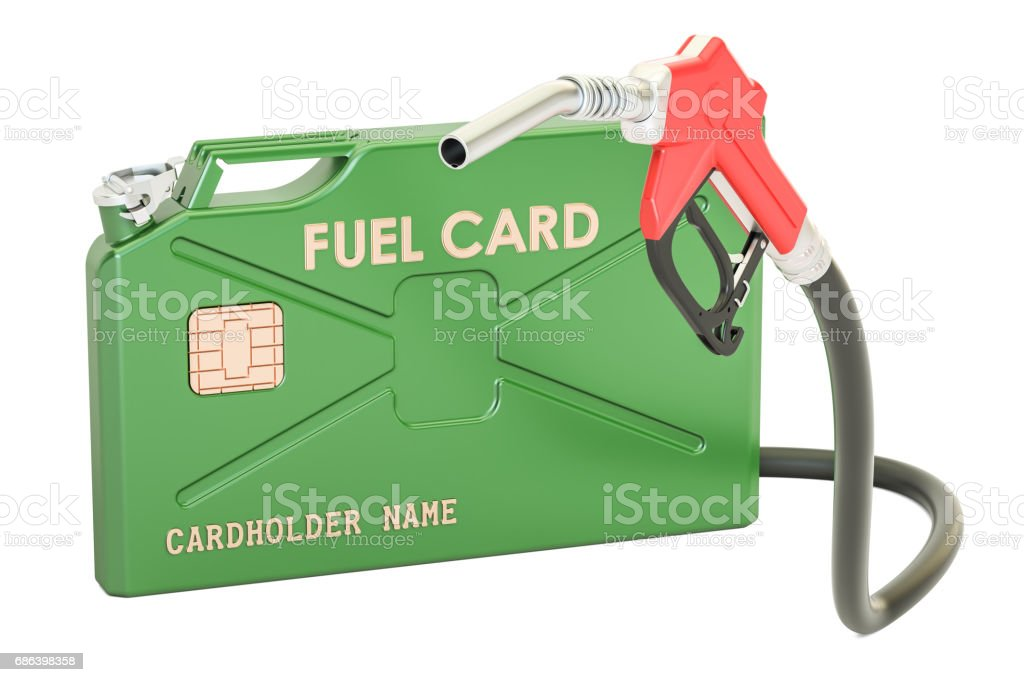 Fuel card concept, 3D rendering isolated on white background stock photo