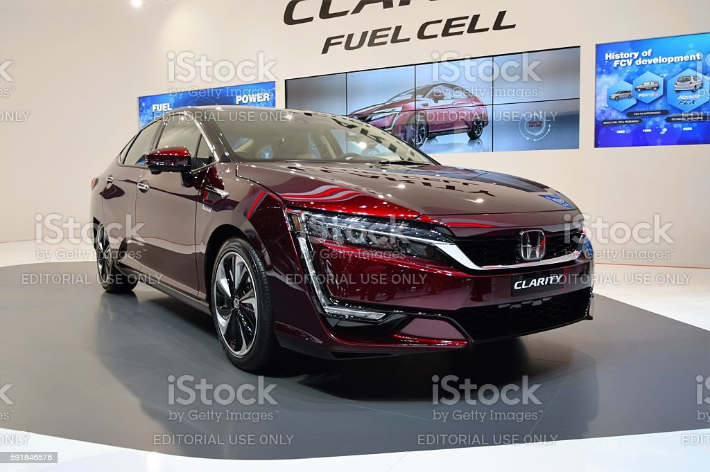Fuel cell electric vehicle (FCEV) stock photo