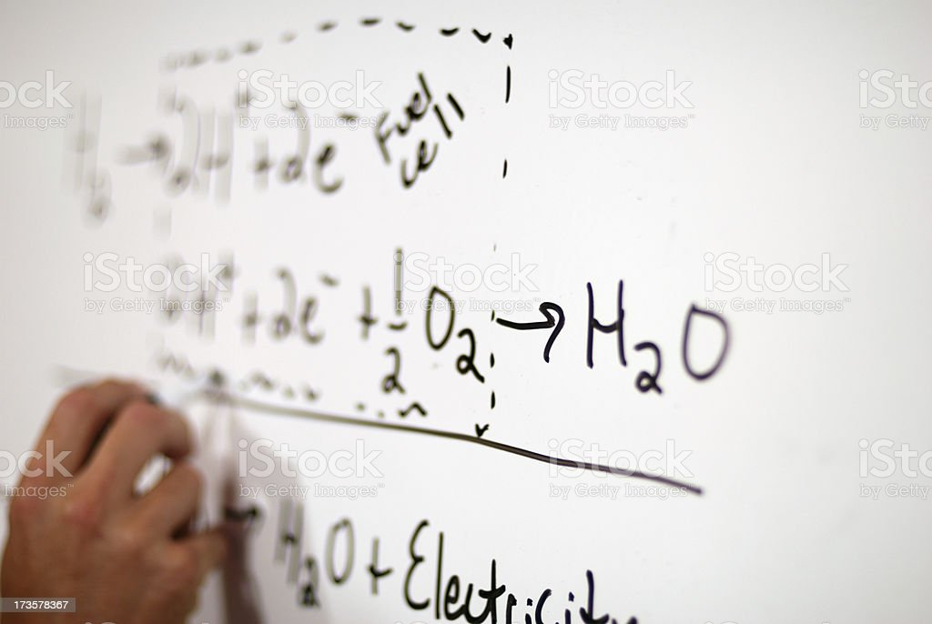 Fuel Cell Equations stock photo