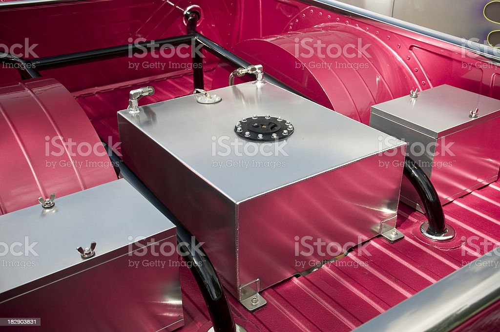 Fuel Cell Gas Tank in Race Car stock photo