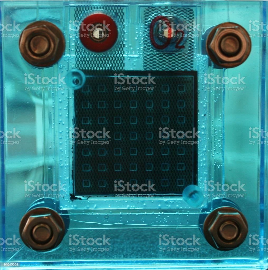 fuel cell, oxygen side stock photo