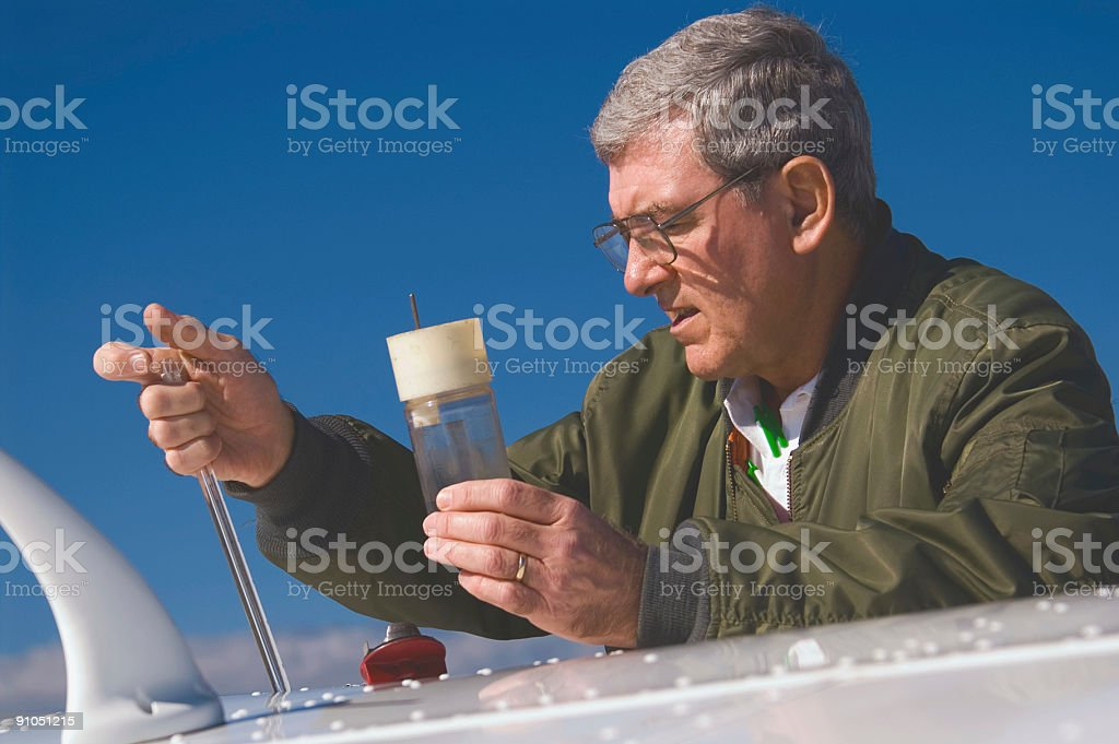 Fuel Check royalty-free stock photo