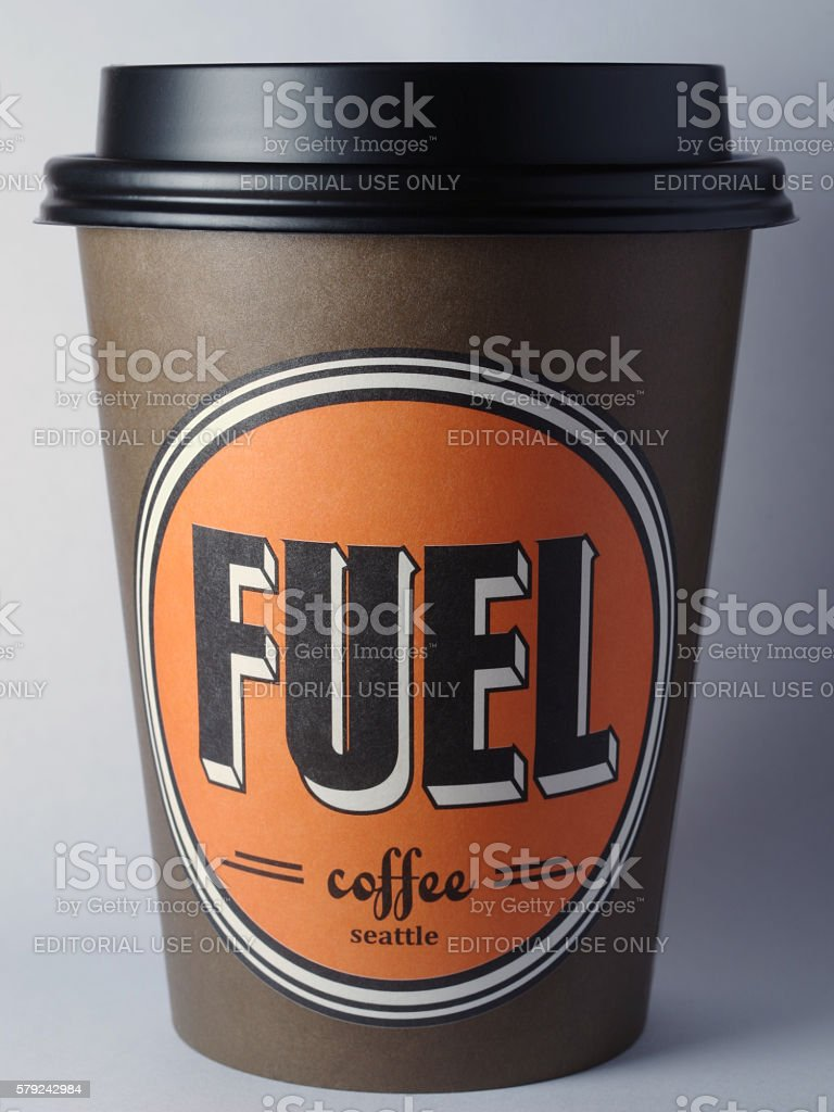 Fuel Coffee Cup stock photo